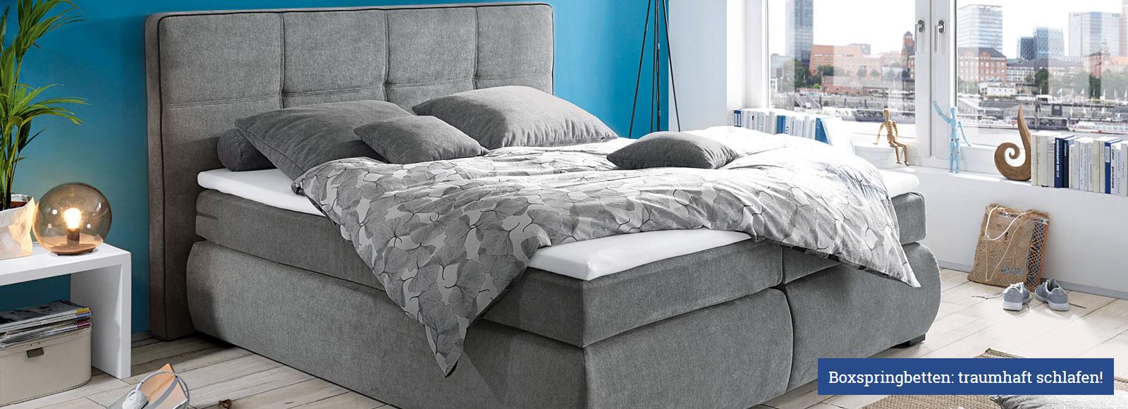 Traumhaft schlafen: Boxspringbetten - günstig kaufen bei Kranepuhl's Optimale Möbelmärkte